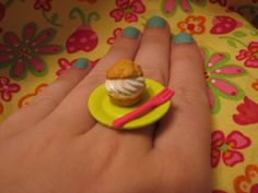 Classic Cream Puff Ring by MegEMays on Etsy, $8.00