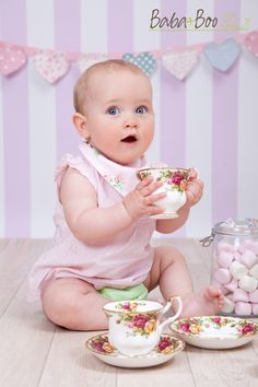 Our English Rose Tea Party featuring our Apple Tree Nappy and Cath Kidston Bandana Bib