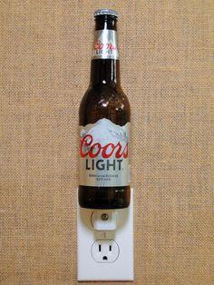 Coors Light 12oz. Glass Bottle Night Light by GlassBottleGuy