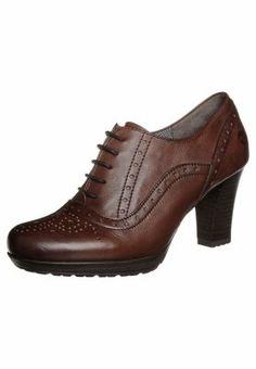 Tamaris Lace-up heels - brown - Zalando.co.uk