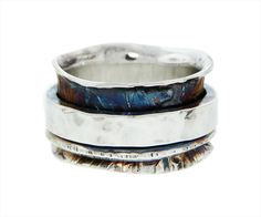 Customize your very own medium width spinner ring! This ring can be special ordered to a specific size and whichever finish you prefer. Each Spinner Rock Jewelry, Jewelry Art, Gemstone Jewelry, Unique Jewelry, Jewellery, Meditation Rings, Spinner Rings, Stone Pendants, Making Ideas