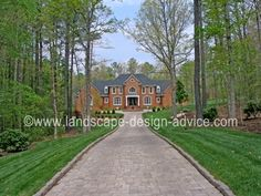 Driveway design with pavers. See more here. http://www.landscape-design-advice.com/driveway-designs.html