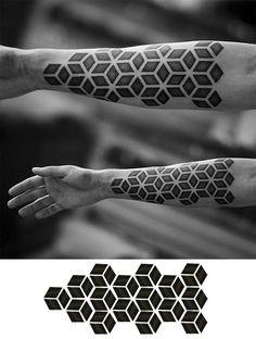 Ideas Of Cool Geometric Tattos Geometric Mandala Tattoo, Sacred Geometry Tattoo, Geometric Tattoo Design, Geometric Tattoos Men, Mini Tattoos, Black Tattoos, Body Art Tattoos, Blackout Tattoo, Tatoo Designs