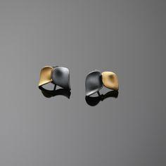 Nuppu stud earrings/ black edition   Chao & Eero shop #nuppu #chaoandeero #finnishdesign #finnishjewelry #keumboo