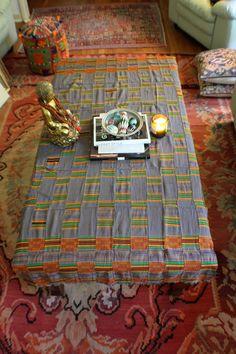 Ewe Kente Cloth from Ghana W. African / Vintage by WomanShopsWorld, $320.00