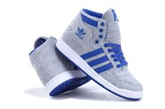Men Adidas Originals High Top Shoes Gray Blue Adidas Shoes