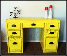 thirteen33 Design: Vintage waterfall desk