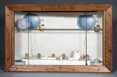 "Joseph Cornell - ""Untitled (Soap Bubble Set, Latitude and Longitude),"" c. 1960. Box construction, 10 in. x 15 1/2 in. x 4 1/4 in."