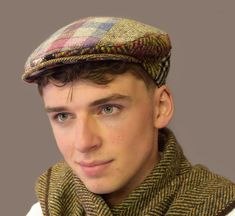 Traditional Classic Patch Flat Cap for the Country Gent in muted colours. Handmade to order with different pieces of fabric creating a unique patch cap. All Jonathan Richards caps are made to the highest standards of craftmanship. Flat Cap, Muted Colors, Ireland, Irish, Captain Hat, Gift Ideas, Hats, Classic, Christmas