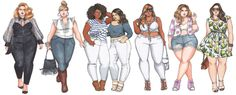 Image result for plus size figure sketch