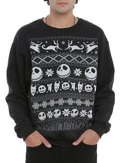 The Nightmare Before Christmas Fair Isle Crewneck Pullover | Hot Topic--- my idea of an ugly Christmas sweater!!