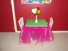 Girls card table - tropical theme