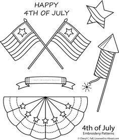 4th of July Embroidery - Free 4th of July Patterns