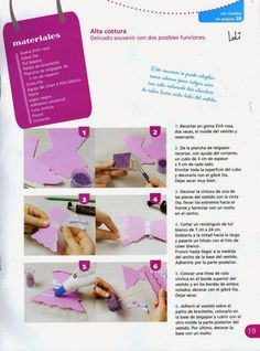 Souvenirs Con goma eva paso a paso Foam Crafts, Craft Foam, Shopkins, Projects To Try, Craft, Letter Stencils, Decorated Notebooks, Hair Bows, Sewing Patterns
