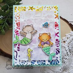 Hijing Mermaid Transparent Clear Silicone Stamp For DIY Scrapbooking Photo Album Decor