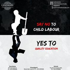 More than 168 million children are trapped in #childlabour.. More than half of them, 85 million, are in hazardous work.. This persistence of child labour is rooted in poverty and lack of decent work for adults, lack of social protection, and a failure to ensure that all #children are attending #school through to the legal minimum age for admission to employment..!! #SayNoToChildLabour #SayYesToQualityEducation #Landmarkdesignerstudio #EthnicWear #DesignerOutfits #Chandigarh