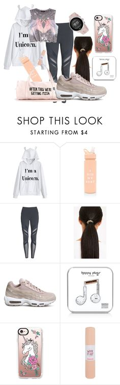 """The Rare Exercise Unicorn"" by wildorchid21-1 ❤ liked on Polyvore featuring ban.do, Alo, Forever 21, NIKE, Happy Plugs, Casetify and Suunto"