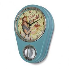 Horloge minuteur « Miss Fifties » - Natives - Déco rétro & vintage