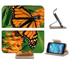 Butterfly Monarch Flower Orange Black Pattern Animal Insect Samsung Galaxy S4 Flip Cover Case with Card Holder Customized Made to Order Support Ready Premium Deluxe Pu Leather 5 inch (140mm) x 3 1/4 inch (80mm) x 9/16 inch (14mm) Luxlady S IV S 4 Professional Cases Accessories Open Camera Headphone Port I9500 LCD Graphic Background Covers Designed Model Folio Sleeve HD Template Designed Wallpaper Photo Jacket Wifi 16gb 32gb 64gb Luxury Protector Micro SD Wireless Cellphone Cell…