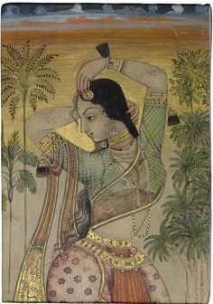 A Dancing girl, India, Deccan, Golconda, circa 1700, Sotheby's