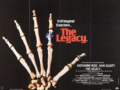 John's Horror Corner: The Legacy where black magic, greedy heirs and meaningless house cats gather in the English countryside. Katherine Ross, Sam Elliott, Michael Lewis, Michael J, Horror Movie Posters, Horror Movies, Movie Theater, I Movie, Run Today