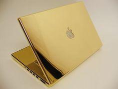 24kt Gold & Diamond Macbook Pro
