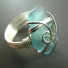 Sea glass ring Leah. A Ring.