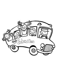 First Day of School, : A School Bus Full of Happy Student on First Day of School Coloring Page School Coloring Pages, Online Coloring Pages, Color Activities, School Colors, Darwin, Coloring For Kids, First Day Of School, Coloring Sheets, Student