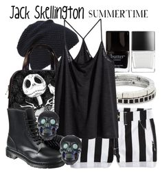"""Jack Skellington (The Nightmare Before Christmas) -- Summertime"" by evil-laugh ❤ liked on Polyvore featuring Butter London, Principles by Ben de Lisi, American Eagle Outfitters, Tasha, H&M, Tarina Tarantino, jackskellington and Thenightmarebeforechristmas"