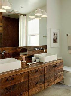 holzschrank unter dem waschbecken spiegel