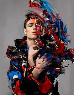 Chaos Matter: Tommaso de Benedictis Comes Alive for Elle Man Vietnam image Tommaso De Benedictis Model 002