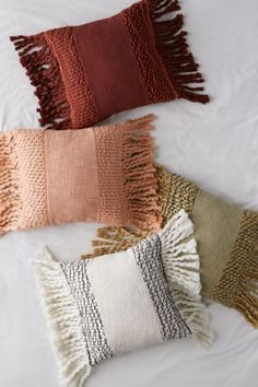 Shop Rinna Fringe Throw Pillow at Urban Outfitters today. We carry all the latest styles, colors and brands for you to choose from right here. Boho Pillows, Diy Pillows, Couch Pillows, Floor Pillows, Decorative Pillows, Orange Throw Pillows, Colorful Throw Pillows, Plain Cushions, Pillos