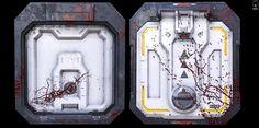 ArtStation - Floor Hatch.Doom Fan Art, Ivan Lavretsov