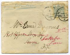 289239 - Lot 261 - Fiji - Covers - Great Britain 1885 cover to Fiji, Postage Due and redirected, rare… / MAD on Collections - Browse and find over 10,000 categories of collectables from around the world - antiques, stamps, coins, memorabilia, art, bottles, jewellery, furniture, medals, toys and more at madoncollections.com. Free to view - Free to Register - Visit today. #Stamps #PostalHistory #MADonCollections #MADonC