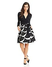Amelia Printed Skirt Wrap Dress