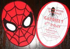 DIY Homemade Spider-man Birthday Invitations - Utopia Party Decor: Cards and Invitations