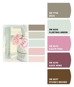 Paint colors from Chip It! by Sherwin-Williams I like the green, maybe for bathroom cabinets?