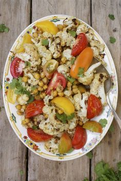 Roasted Cauliflower & Chickpeas with Orange Cumin Dressing | In Pursuit Of More