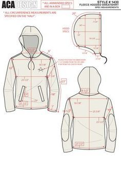 Fashion Technical Design Example Work on Behance Examples of technical design work previous pinner has completed in previous pinners previous positions.New sew flash Mens Sewing Patterns, Sewing Tutorials, Clothing Patterns, Vogue Patterns, Vintage Patterns, Hoodie Pattern, Jacket Pattern, Jumpsuit Pattern, Fashion Sewing