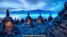 Places To See: Borobudur in Magelang, Indonesia Hdr Photography, Landscape Photography, Photography Portfolio, Colour Photography, Inspiring Photography, Photography Backdrops, India Landscape, Borobudur Temple, Jungle Tree