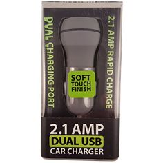 2.1 Amp Output Dual Ports USB Car Charger Quick Charge Design Convenient for Charging 2 Devices at Once. Charges Smart Phone 2X Faster. Soft Touch Finish Grey (Grey) -- Visit the image link more details. (This is an affiliate link) Car Accessories, Charger, Image Link, Smartphone, Usb, Touch, Learning, Grey, Design