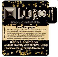 LuLaRoe, Lip Balm, 60, tubes, Chapstick, personalized, Label, Lularoe Consultant, Promotional, Advertising, Black, Gold, Glitter, Confetti, by PuraGioia on Etsy
