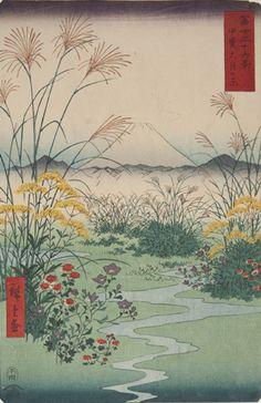 Trente-six vues du mont Fuji, Utagawa Hiroshige – Ôtsukinohara, province de Kai - © Museum of Asian Art Corfu, Greece. Photography by New Color Photographic Printing Co., Ltd