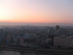 Sunset in Pyongyang, North Korea