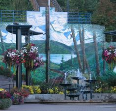 Port Angeles Washington Mural behind the fountain in downtown. Port Angeles Washington, Yakima Washington, Western Washington, Washington State, Neah Bay, Northwest Usa, Port Orchard, Olympic Mountains, Wa State