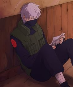 Kakashi. Oh...I just realised that he is holding the photo of Team 7. This is so depressing. :sobbing anime style: