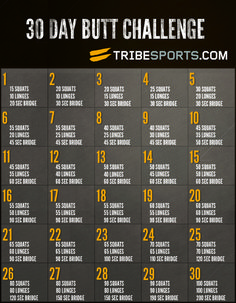 This will be my next 30 day challenge! Right after I finish my guns, buns, and ab challenge :)