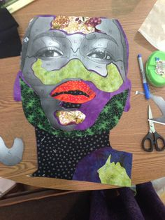 What I Learned From Quilt Artist Bisa Butler Collage Portrait, Collage Art, Portraits, African American Art, African Art, Fabric Painting, Fabric Art, Collages, Abstract Face Art