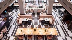 Hotel Lutetia - Parigi bar - Google Search Restaurant Interior Design, Floor Patterns, Flooring, Bar, Google Search, Wood Flooring, Floor