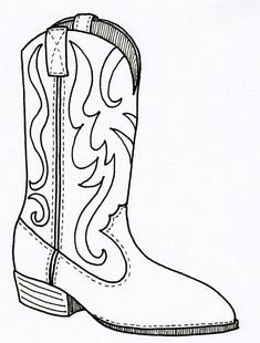 Cowboy boots coloring pages - Coloring Pages & Pictures - IMAGIXS                                                                                                                                                                                 More